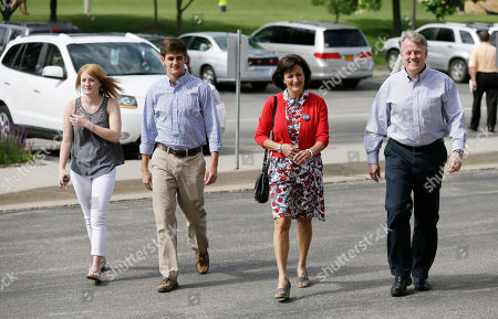 Stock Picture of Mark Jacobs Republican U.S. Senate candidate Mark Jacobs, right, arrives with his wife Janet, son Clark and daughter Christy, left, to vote in Iowa's Republican primary, in West Des Moines, Iowa. Five Republicans are competing for the GOP Senate nomination and a chance to face Democrat Bruce Braley, who is running unopposed