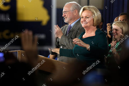 Claire McCaskill, Joseph Shepard Sen. Claire McCaskill, D-Mo., smiles as she stands next to her husband, Joseph Shepard, while declaring victory over challenger Rep. Todd Akin, R-Mo., in the Missouri Senate race, in St. Louis