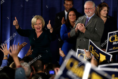 Claire McCaskill Sen. Claire McCaskill, D-Mo., celebrates after declaring victory over challenger Rep. Todd Akin, R-Mo., in the Missouri Senate race, in St. Louis