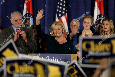 Claire McCaskill Sen. Claire McCaskill, D-Mo., waves to supporters after declaring victory over challenger Rep. Todd Akin, R-Mo., in the Missouri Senate race, in St. Louis