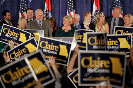 Claire McCaskill Flanked by family members, Sen. Claire McCaskill, D-Mo., declares victory over challenger Rep. Todd Akin, R-Mo., in the Missouri Senate race, in St. Louis