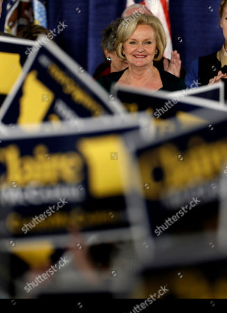 Claire McCaskill Sen. Claire McCaskill, D-Mo., smiles as she stands on stage to declaring victory over challenger Rep. Todd Akin, R-Mo., in the Missouri Senate race, in St. Louis