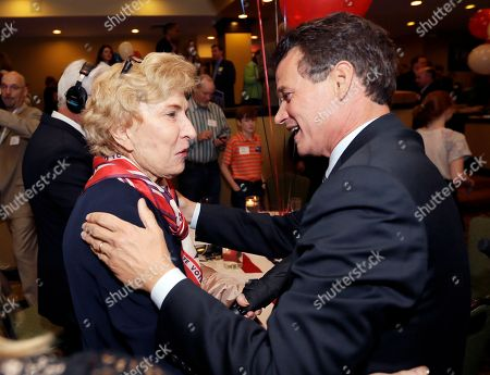 David Trott Republican David Trott, right, meets with supporter Betty Bright of Bloomfield Hills, Mich., at his election night party in Troy, Mich., . Republican U.S. Rep. Kerry Bentivolio was defeated by lawyer and businessman Trott in suburban Detroit's 11th Congressional District primary. Bentivolio, 62, was the third U.S. House incumbent to lose this year after Texas Rep. Ralph Hall and former House Majority Leader Eric Cantor in Virginia