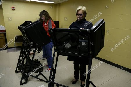 Claire McCaskill Sen Claire McCaskill, D-Mo., right, votes at her polling place, Kirkwood Community Center, in Kirkwood, Mo. McCaskill is running for reelection against Republican challenger Rep. Todd Akin, R-Mo