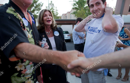 Shelley Berkley U.S. Rep. Shelley Berkley, D-Nev., greets supporters during a primary night gathering, in Las Vegas. Berkley easily brushed aside a slate of unknown challengers to win her Nevada Senate primary Tuesday night. Her Nov. 6 contest against Rep. Dean Heller, R-Nev., is one of a few in the nation that could determine whether Democrats keep control of the U.S. Senate and it is expected to be a tight one