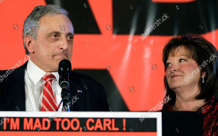 Carl Paladino, Cathy Paladino Republican gubernatorial candidate Carl Paladino concedes the election with his wife Cathy Paladino in Buffalo, N.Y