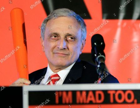 Carl Paladino Republican gubernatorial candidate Carl Paladino holds a baseball bat as he concedes the election in Buffalo, N.Y