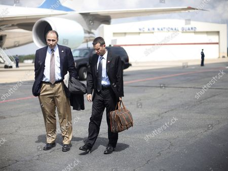 David Axelrod, David Plouffe Obama advisers David Axelrod, left, and David Plouffe, right, are seen on the tarmac at North Carolina Air National Guard Base, in Charlotte, N.C. Both men traveled aboard Air Force One with President Barack Obama for the Democratic National Convention