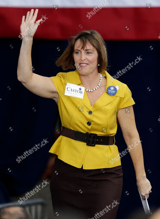 Kathy Castor U.S. Rep. Kathy Castor, D-Fla., waves to supporters before a campaign speech by President Obama, in Tampa, Fla
