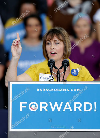 Kathy Castor U.S. Rep. Kathy Castor, D-Fla., gestures to supporters before a campaign speech by President Obama, in Tampa, Fla