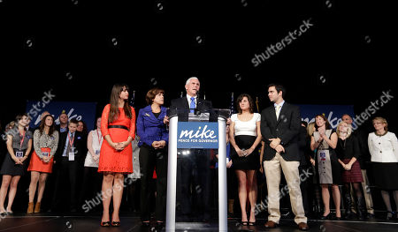 Mike Pence Indiana Republican gubernatorial candidate Mike Pence speaks to supporters with his family at his side at an Indiana Republican Party, in Indianapolis. Pence defeated Democrat John Gregg and Libertarian Rupert Boneham