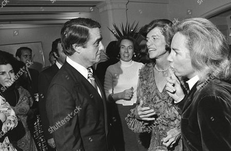 Sargent Shriver, Eunice Kennedy Shriver, Ethel Kennedy R. Sargent Shriver hears tonight from his wife, Eunice Kennedy Shriver, and Ethel Kennedy, right, his sister-in-law and widow of Robert F. Kennedy. They talked at Shriver's Rockville, Md., home on before he left for the Democratic Party hotel headquarters to respond to election results and his vice presidential candidacy. Woman in background is unidentified