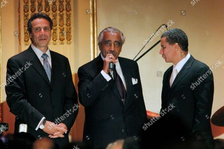 Charles Rangel, Andrew Cuomo, David A. Paterson New York Attorney General Andrew Cuomo, left, joins Rep. Charles Rangel, center, D-N.Y., and New York Gov. David A. Paterson onstage during Rangel's birthday fundraiser at the Plaza Hotel in New York. Despite the 13 ethics charges against him and a trial that could take place before the Nov. 2 general election, Rangel goes into next week's New York Democratic primary with a 20-to-1 financial advantage, support from the state's political elite and empathy from many constituents who believe he got a raw deal