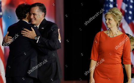 Mitt Romney, Ann Romney, Craig Romney Republican presidential candidate and former Massachusetts Gov. Mitt Romney embraces with his son Craig Romney as Ann Romney looks on after Romney conceded the race during his election night rally, in Boston