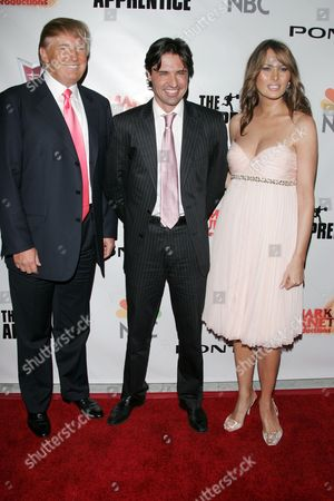 Stock Image of Donald Trump, Sean Yazbeck and Melania Trump