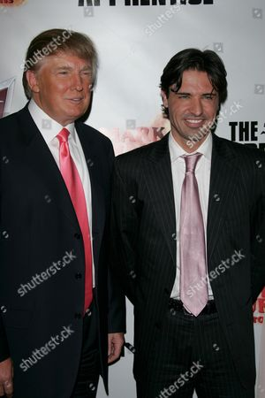 Stock Picture of Donald Trump and Apprentice winner Sean Yazbeck
