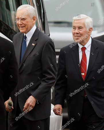 Orrin Hatch, Richard Lugar Sen. Orrin Hatch, R-Uath, left, and Sen. Richard Lugar, R-Ind., in Newport, R.I. Lugar, 80, and Hatch, 78, the two longest-serving GOP senators, are tea partyers' top targets for defeat in 2012, portrayed as old bulls out of touch with today's conservatives. But the incumbents have come out swinging, seizing on a lesson learned when Hatch's fellow Utah Republican senator, Robert Bennett, had his re-election bid derailed two years ago by the fledgling tea party movement
