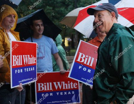 Bill White Texas Democratic gubernatorial candidate Bill White visits with volunteers at a polling place on election day in Houston
