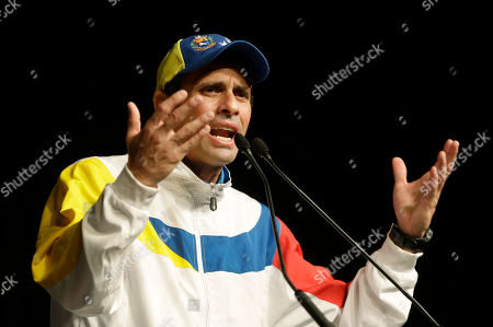 Henrique Capriles Radonski Henrique Capriles, governor of the state of Miranda and opposition leader in Venezuela, gestures as he speaks to supporters, in Miami. Capriles narrowly lost the April 14 presidential election to late President Hugo Chavez's hand-picked successor, Nicolas Maduro. Capriles and his supporters claim Maduro stole the election through fraud