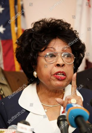 Diane Watson Rep. Diane Watson, D-Los Angeles, announcing that she will not seek re-election to the congressional seat she has held since 2001 at at her district office in Los Angeles on . Watson said she was stepping down to spend more time with her 100-year-old mother