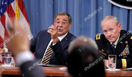 Leon Panetta, Martin Dempsey Defense Secretary Leon Panetta and Joint Chiefs Chairman Gen. Martin E. Dempsey take part in a news conference at the Pentagon in Washington, on the defense budget. Is the U.S. spending enough money on defense, and is it spending it in the right ways? In the aftermath of the 9/11 terrorist attacks the money spigot was turned wide open, pouring hundreds of billions of dollars into the wars in Iraq and Afghanistan and expanding the armed forces. Now that's changing, and an important issue in the election is whether budget cuts have gone too far