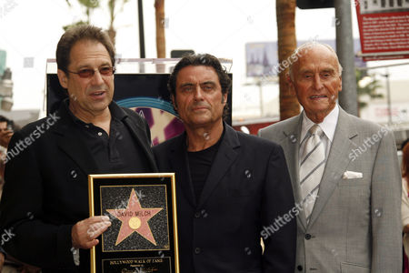 Stock Photo of David Milch, Ian McShane and A C Lyles