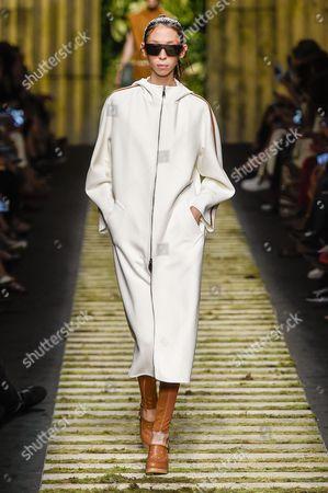 Issa Lish on the catwalk