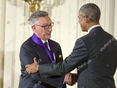 Barack Obama and Moises Kaufman