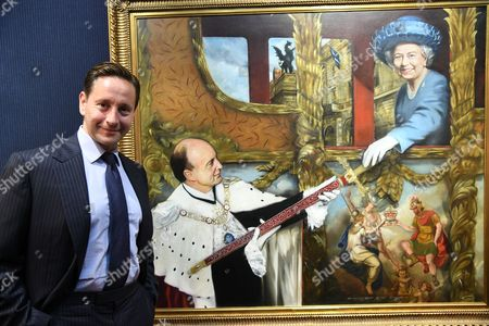 Editorial photo of Alexander Talbot Rice paintings at Huntsman & Sons, Savile Row, London, UK - 22 Sep 2016