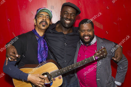 Steven Bargonetti (Musical Director), Steve Toussaint (Hero) and Sibusiso Mamba (Leader/First Runaway)