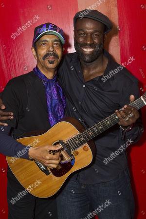 Stock Photo of Steven Bargonetti (Musical Director) and Steve Toussaint (Hero)