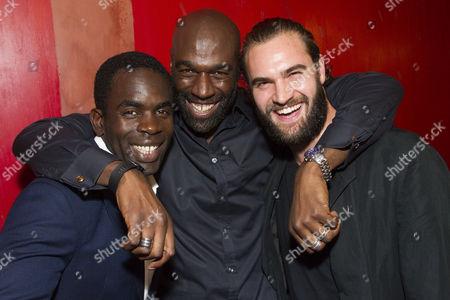 Jimmy Akingbola (Homer), Steve Toussaint (Hero) and Tom Bateman (Smith)