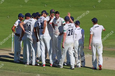David Masters of Essex (C) claims the wicket of Daniel Bell-Drummond during Kent CCC vs Essex CCC, Specsavers County Championship Division 2 Cricket at the St Lawrence Ground on 23rd September 2016