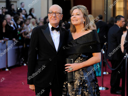 Geoffrey Rush, Jane Menelaus Actor Geoffrey Rush and his wife Jane Menelaus arrive before the 83rd Academy Awards, in the Hollywood section of Los Angeles
