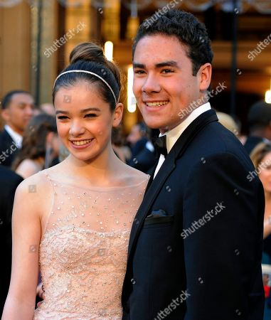 Hailee Steinfeld, Griffin Steinfeld Hailee Steinfeld, left, and her brother Griffin Steinfeld arrive before the 83rd Academy Awards, in the Hollywood section of Los Angeles