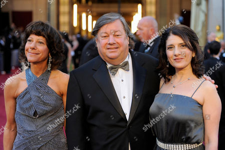 "Karen Goodman, Kirk Simon, Karen Tal From left, Karen Goodman, Kirk Simon and Karen Tal, nominated for best documentary short for ""Strangers No More,"" arrive before the 83rd Academy Awards, in the Hollywood section of Los Angeles"