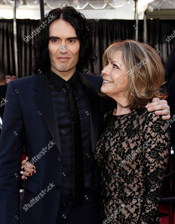 Russell Brand, Barbara Elizabeth Actor and singer Russell Brand, left, and mom Barbara Elizabeth arrive before the 83rd Academy Awards, in the Hollywood section of Los Angeles