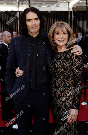 Russell Brand, Barbara Elizabeth Actor and singer Russell Brand, left, and his mother Barbara Elizabeth arrive before the 83rd Academy Awards, in the Hollywood section of Los Angeles