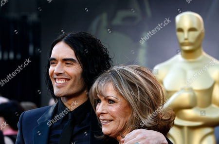 Russell Brand, Barbara Elizabeth Actor and singer Russell Brand, left, and his mom Barbara Elizabeth arrive before the 83rd Academy Awards, in the Hollywood section of Los Angeles