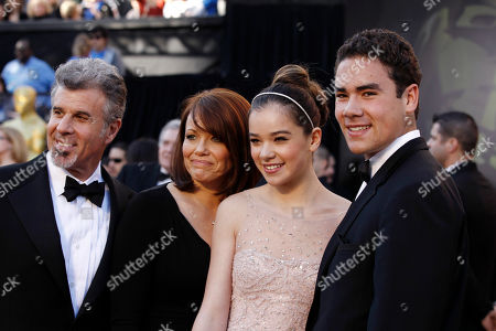 Stock Picture of Hailee Steinfeld, Griffin Steinfeld, Cheri Steinfeld, Peter Steinfeld Hailee Steinfeld, second from right, arrives with her brother Griffin Steinfeld, right, and parents Cheri and Peter Steinfeld before the 83rd Academy Awards, in the Hollywood section of Los Angeles
