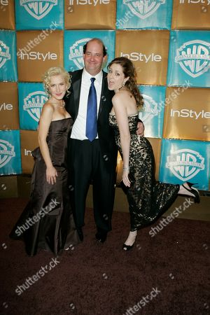 Angela Kinsey, Brian Baumgartner, Jenna Fisher Angela Kinsey, left, Brian Baumgartner, center, and Jenna Fisher arrive for the In Style and Warner Bros. party following the 64th Annual Golden Globe Awards, in Beverly Hills, Calif