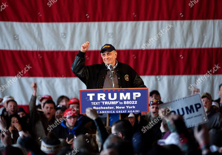 Donald Trump, Carl Paladino Carl Paladino speaks before a rally for Republican presidential candidate Donald Trump speaks at JetSmart Aviation Services, in Rochester, N.Y