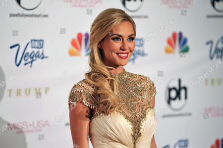 Miss USA 2013 Television personality and pageant judge Jessica Robertson arrives at the Miss USA 2013 pageant, in Las Vegas
