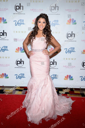 Stock Photo of Miss USA 2013 Singer/songwriter Taylor Bright arrives at the Miss USA 2013 pageant, in Las Vegas