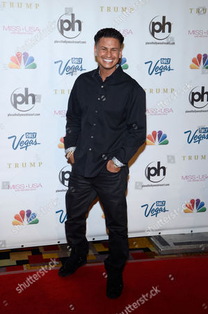 Miss USA 2013 Television personality DJ Paul 'Pauly D' DelVecchio arrives at the Miss USA 2013 pageant, in Las Vegas
