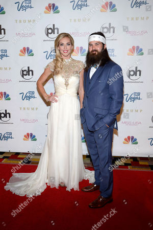 Miss USA 2013 From left, television personalities Jessica Robertson and Jep Robertson of 'Duck Dynasty' arrive at the Miss USA 2013 pageant, in Las Vegas