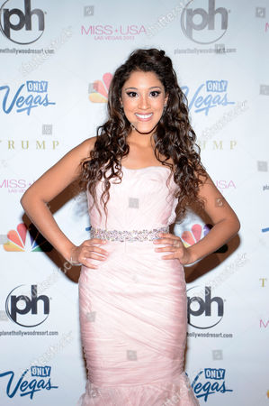 Miss USA 2013 Singer/songwriter Taylor Bright arrives at the Miss USA 2013 pageant, in Las Vegas