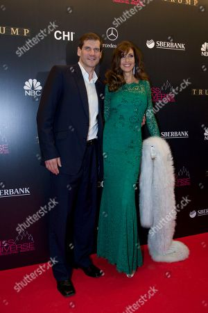 Carol Alt, Alexei Yashin Model and actress Carol Alt and her boyfriend ice hockey star Alexei Yashin arrive for the final of the 2013 Miss Universe pageant in Moscow, Russia, on
