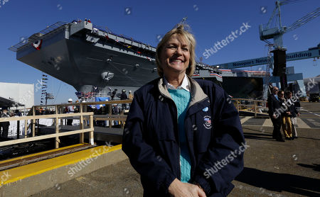 Susan Ford Bales Susan Ford Bales stands in front of the Navy's newest nuclear powered aircraft carrier USS Gerald R. Ford at the Newport News Shipbuilding in Newport News, Va., . Bales, the daughter of former President Ford will christen the ship Saturday