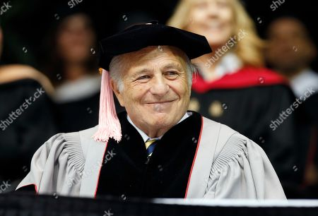 Stock Photo of Doug Morris CEO of Sony Music Entertainment Doug Morris smiles during Berklee College of Music commencement ceremonies, in Boston. Morris received an honorary doctor of music degree from the college